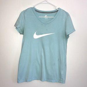 Nike Light Blue w/ white Swoosh Tee